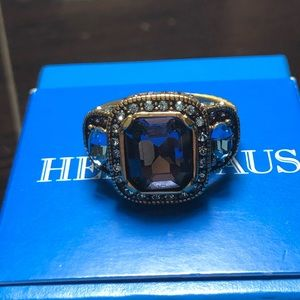 Heidi Daus Amethyst and Blue Topaz Size 10 Ring